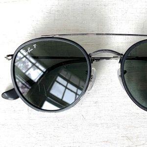 Polarized Double Bar Round Ray Ban Sunglasses